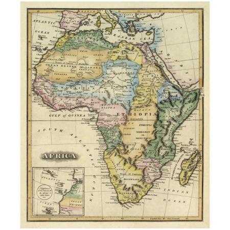 Afrika vintage verdenskort