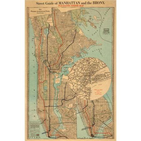 Manhatten - Vintage verdenskort