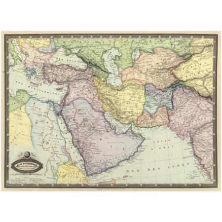 gammelt verdenskort mellemøsten