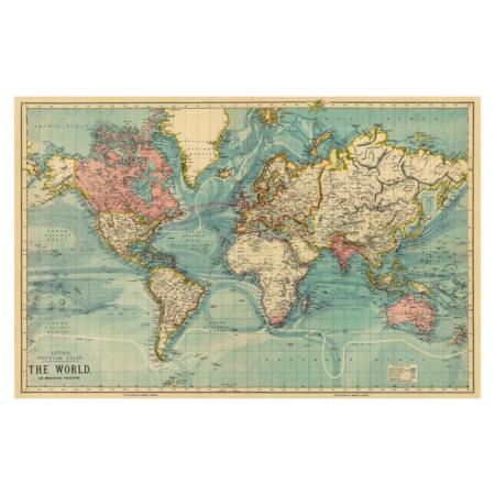 vintage verdenskort